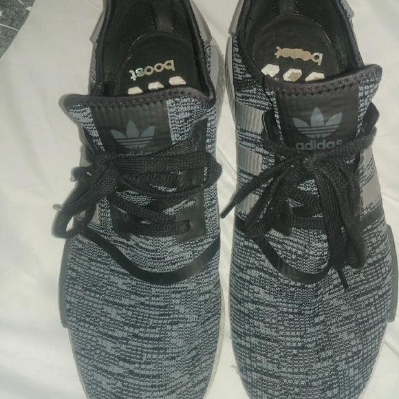02b657dc7f6d9 adidas Other - Adidas NMD R1 Primeknit Mens 13 Black Grey Boost